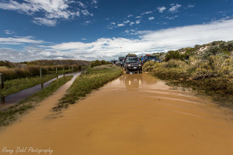 Water crossing.