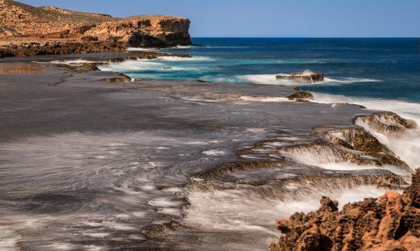 Water waves and rocks, Zurtdorp cliffs Western Australia.