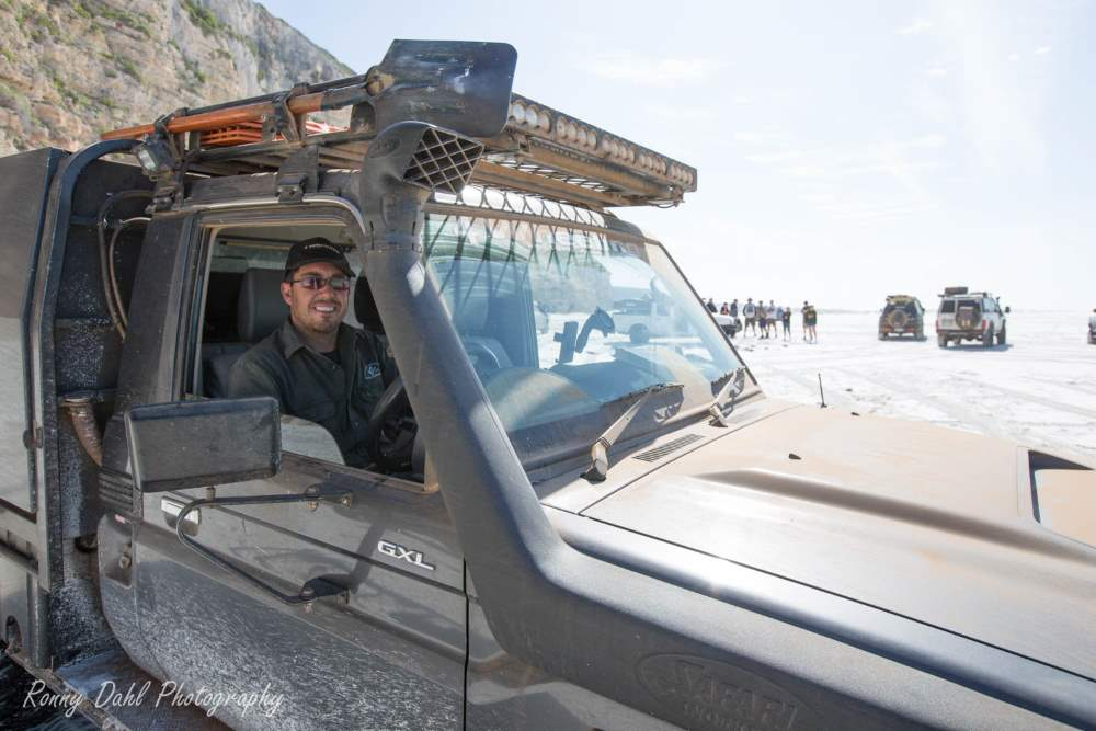 Wayne in his Landcruiser 79 series.