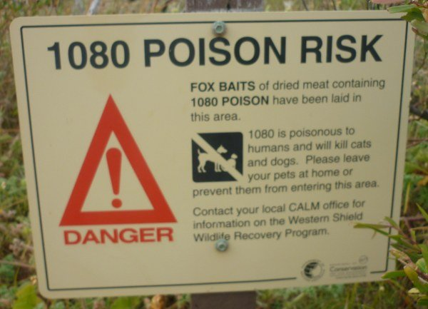 The 1080 Poison Sign.