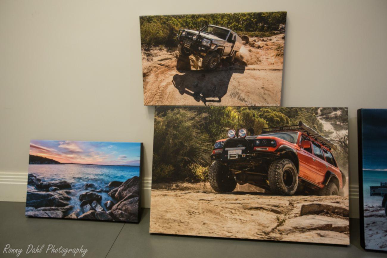 3 Cavans prints framed.