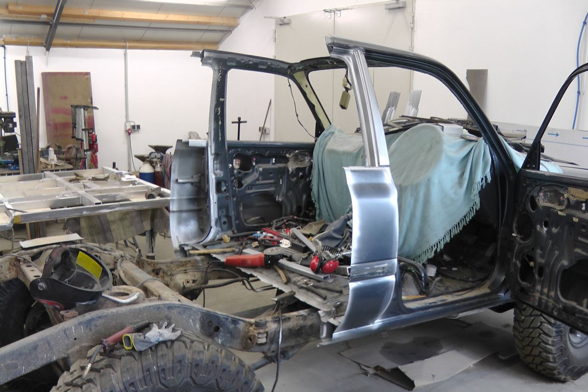 The assembly of the Toyota Custom 80 series Landcruiser.