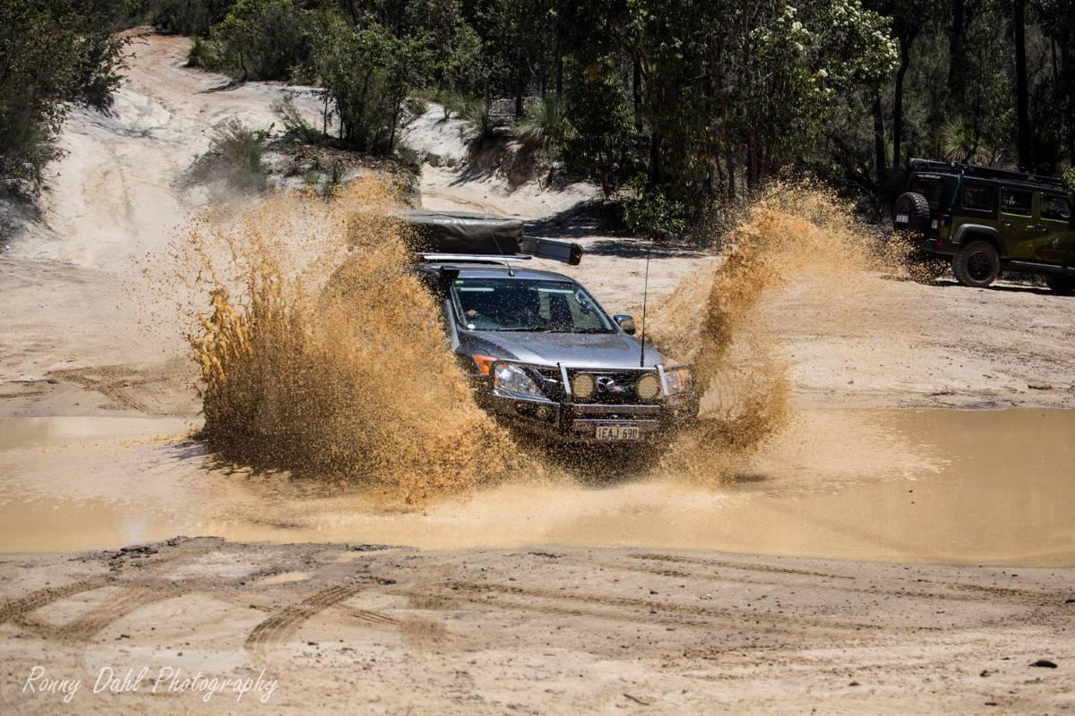 Mazda BT 50 in mud.