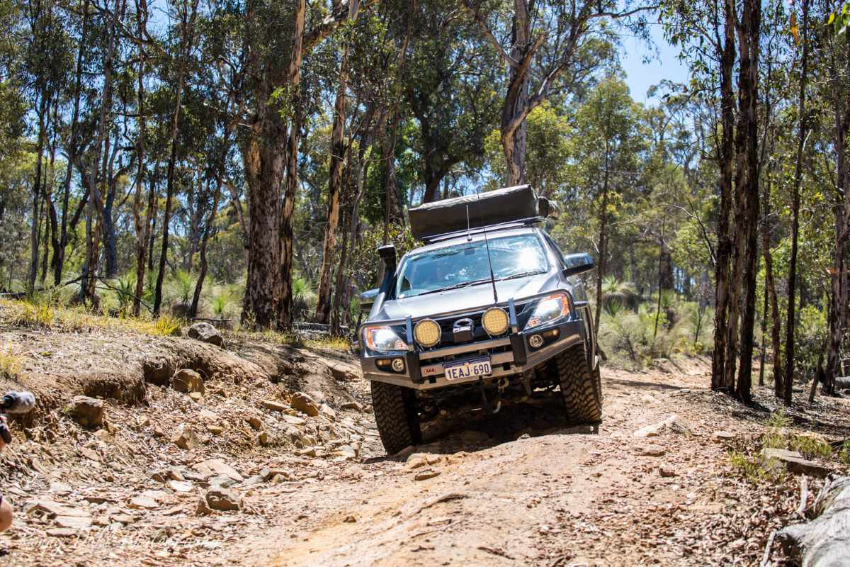 Mazda BT 50 on the track.