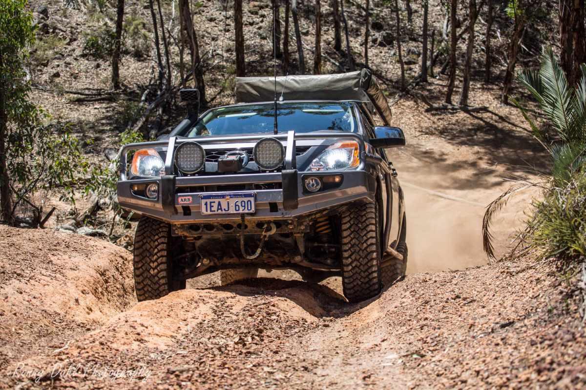 Mazda BT 50 off-road in Western Australia.