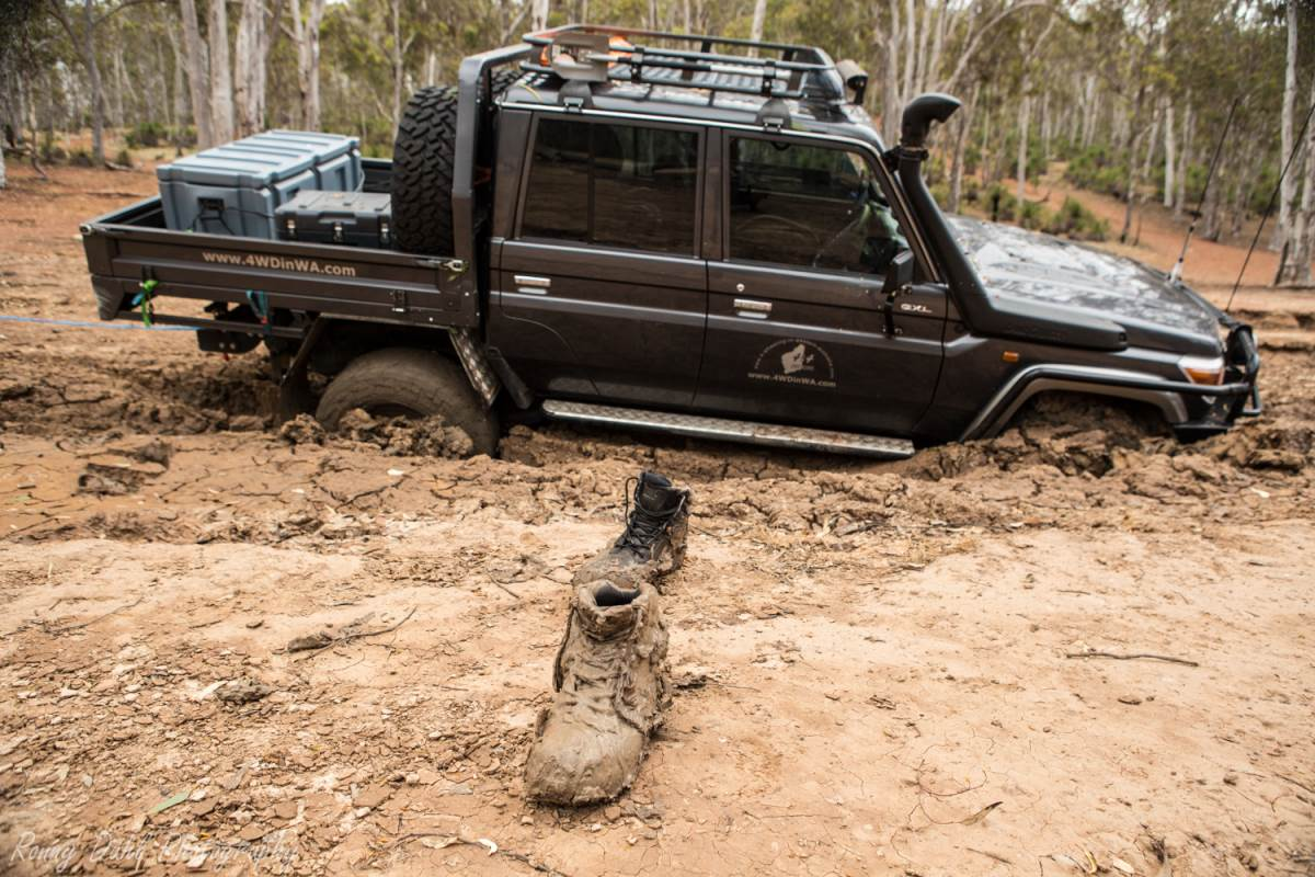 Bogged Land Cruiser.