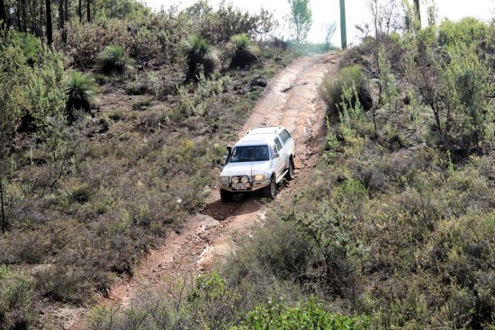 Clay hill descent.