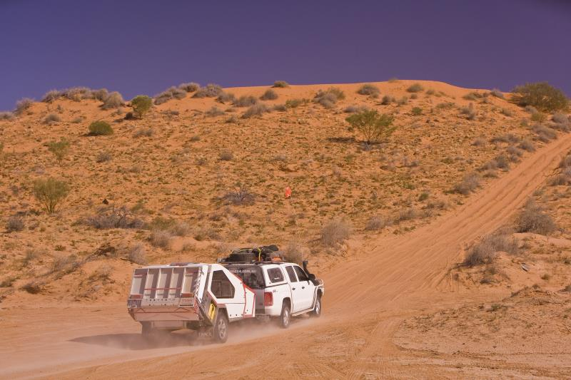 4 wheel drive with offroad camper.