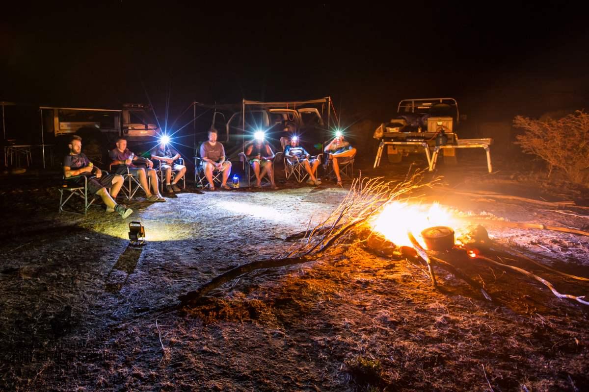 Camping in the bush, Western Australia.