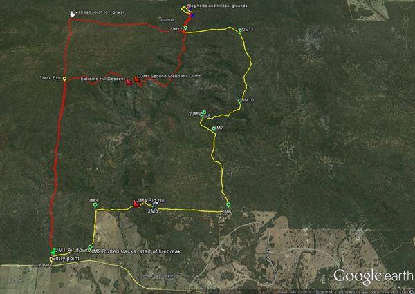 Google Map. Julimar State Forest.
