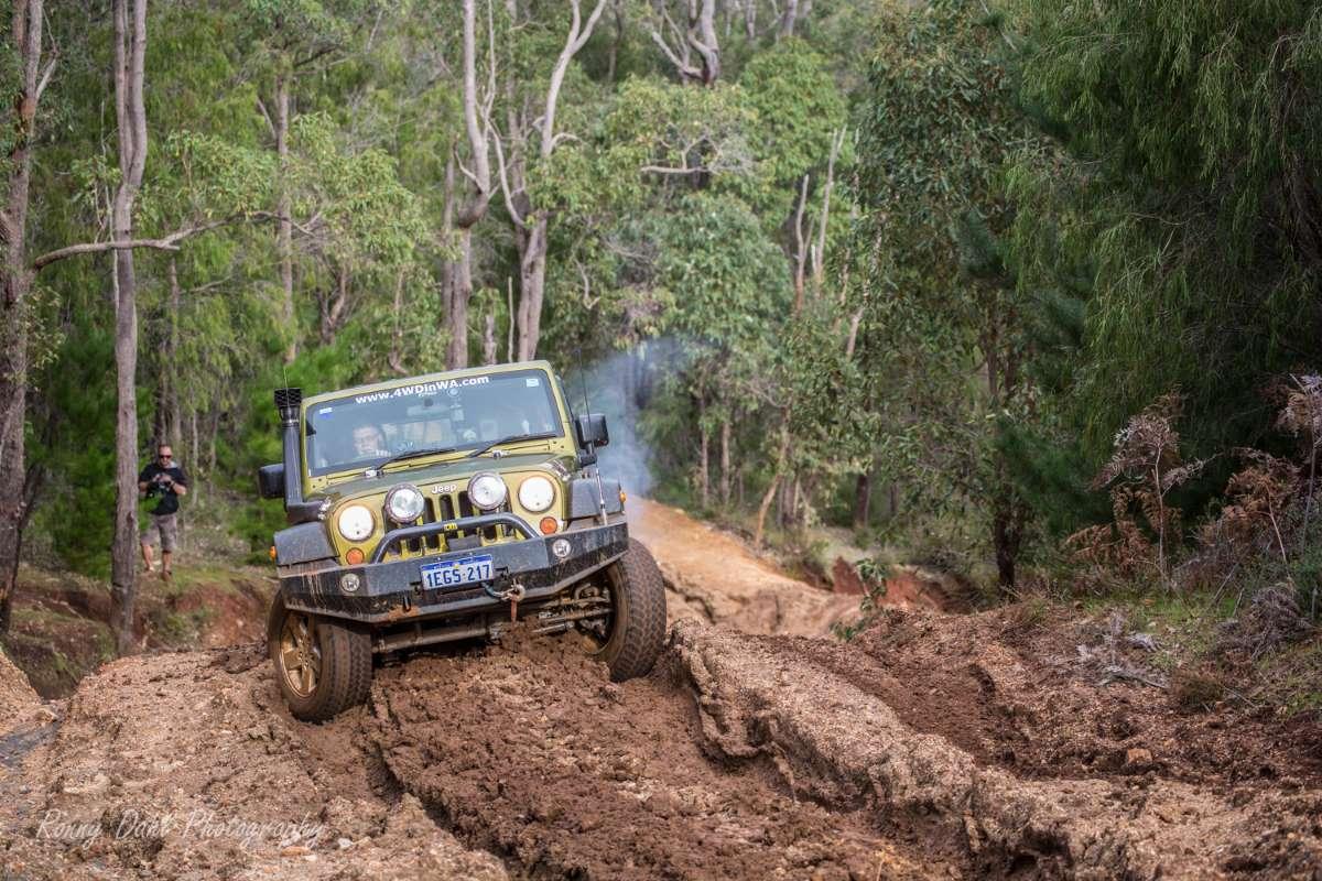 Jeep Wrangler JK climbing BIG DADDY Hill.