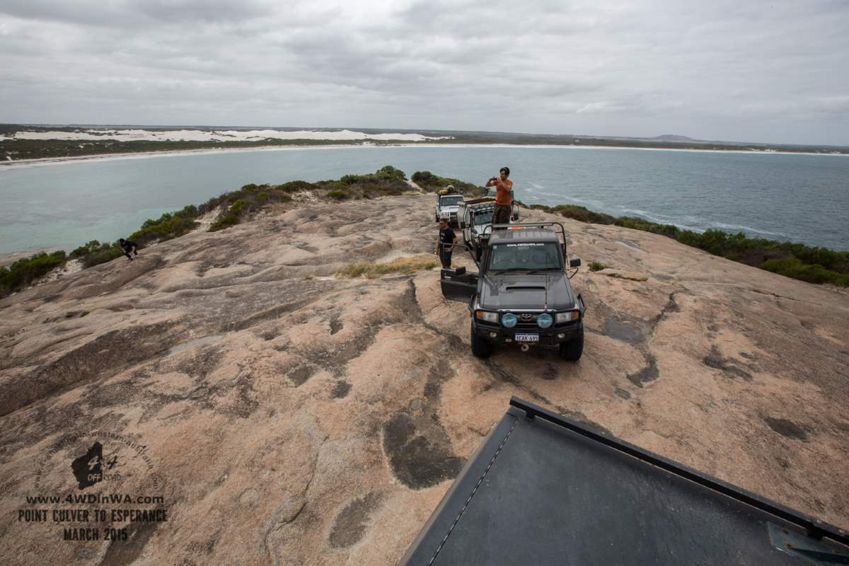 Toyota Land Cruiser at Wylie Head, Western Australia.