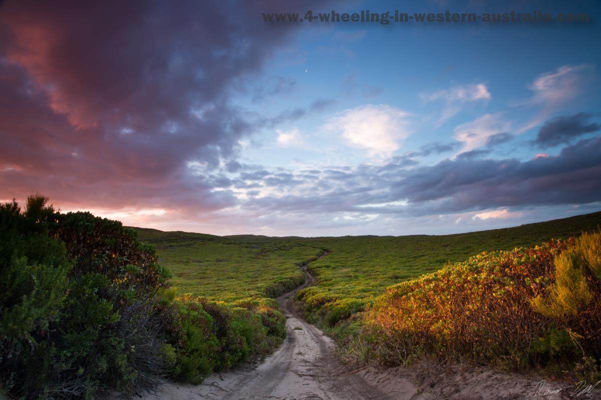 Sandy Peak Sunset of the Sand Tracks