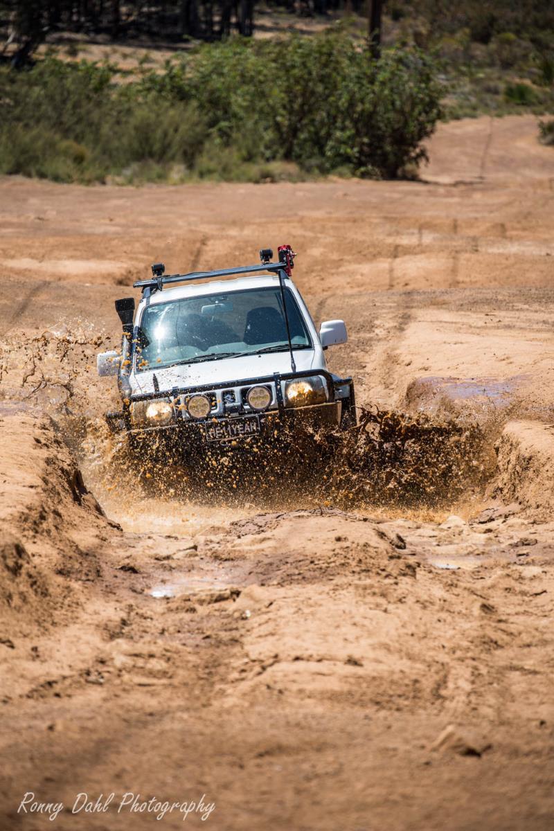 Suzuki Jimny 4x4. in the mud.