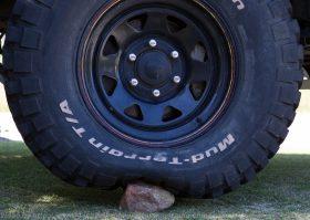 Tyre pressure rock 10psi