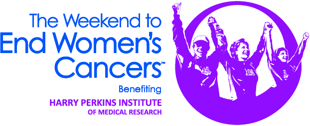 The Weekend To End Women's Cancers Logo.