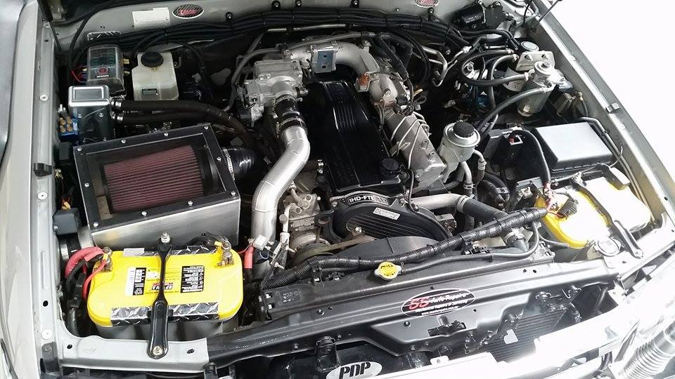 Engine bay in Anthony's 100 Series LC