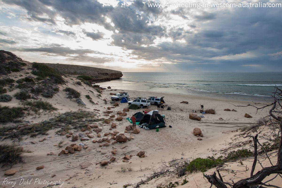 4x4 Beach Camp in Western Australia.