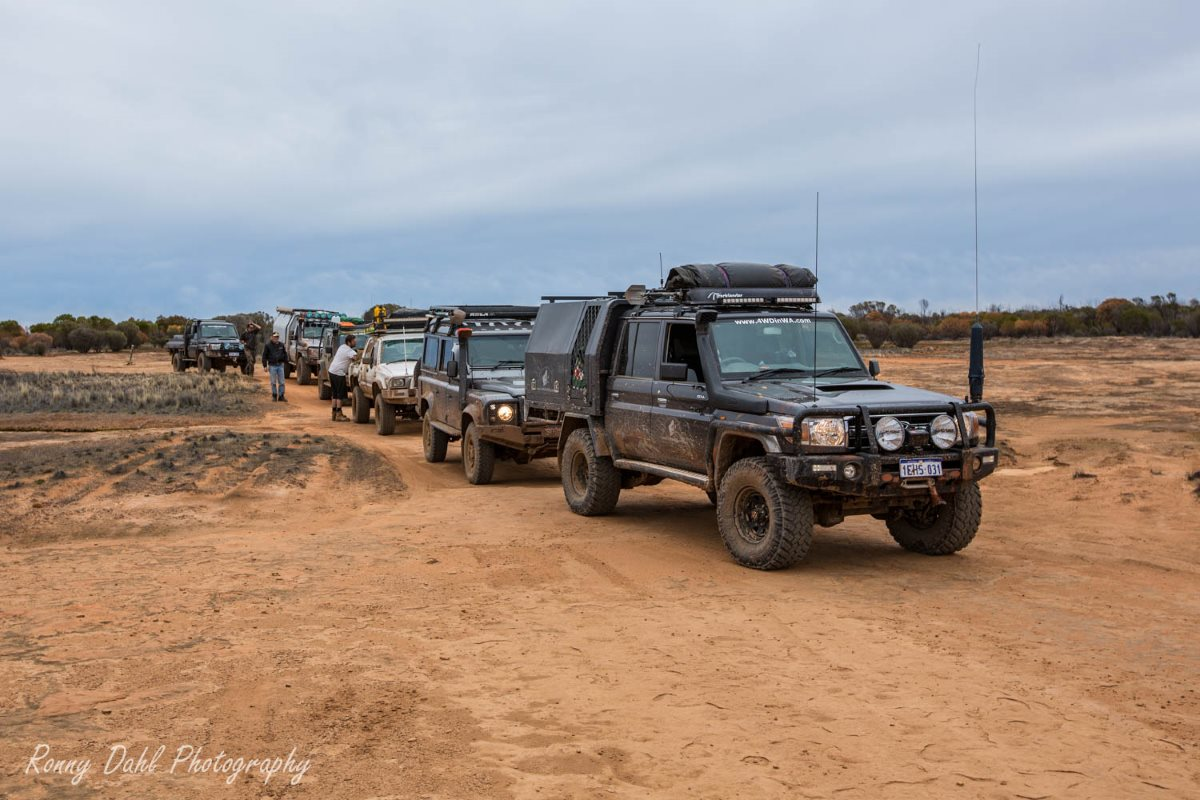Tag-along on the Holland Track, Western Australia.