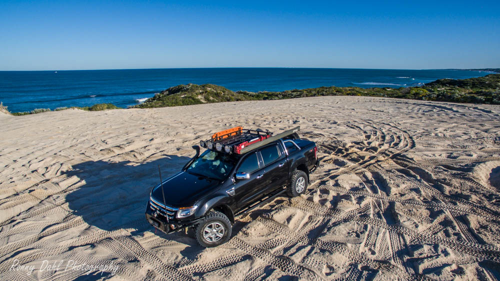 Ford Ranger XLT on the beach.