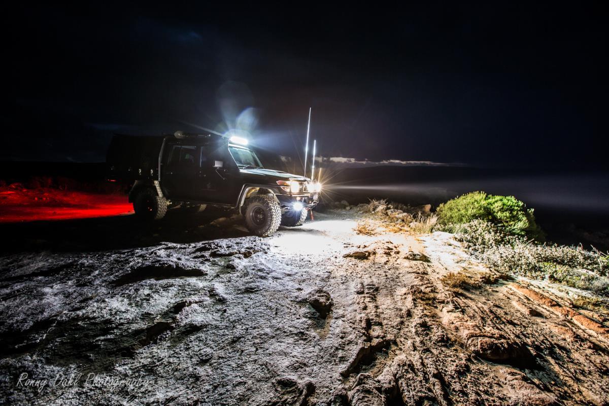 Driving at night, Off-Road.
