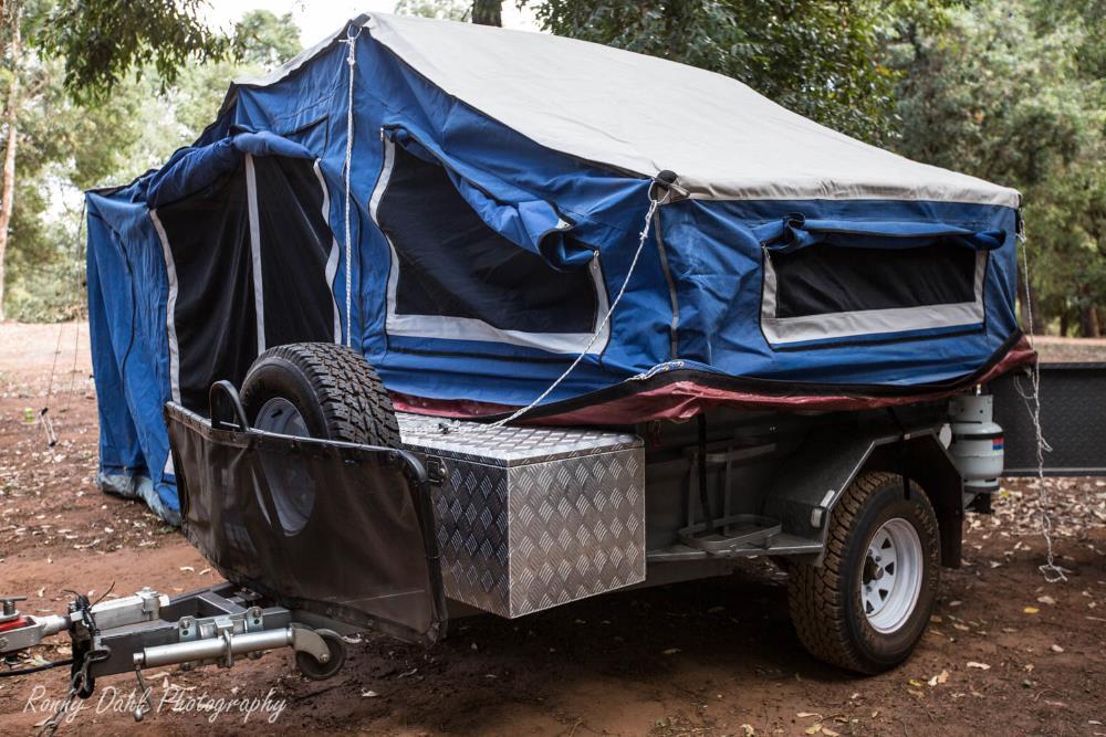 MCD camper trailer.