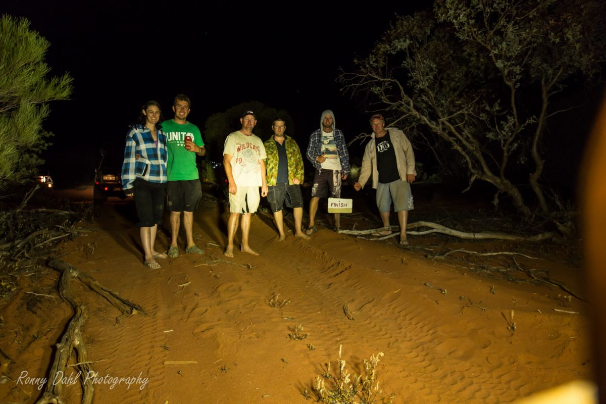 The end off the Dingo Track.