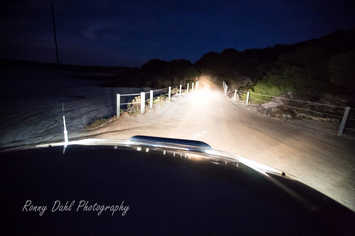 Driving Lights on a Toyota Hilux.