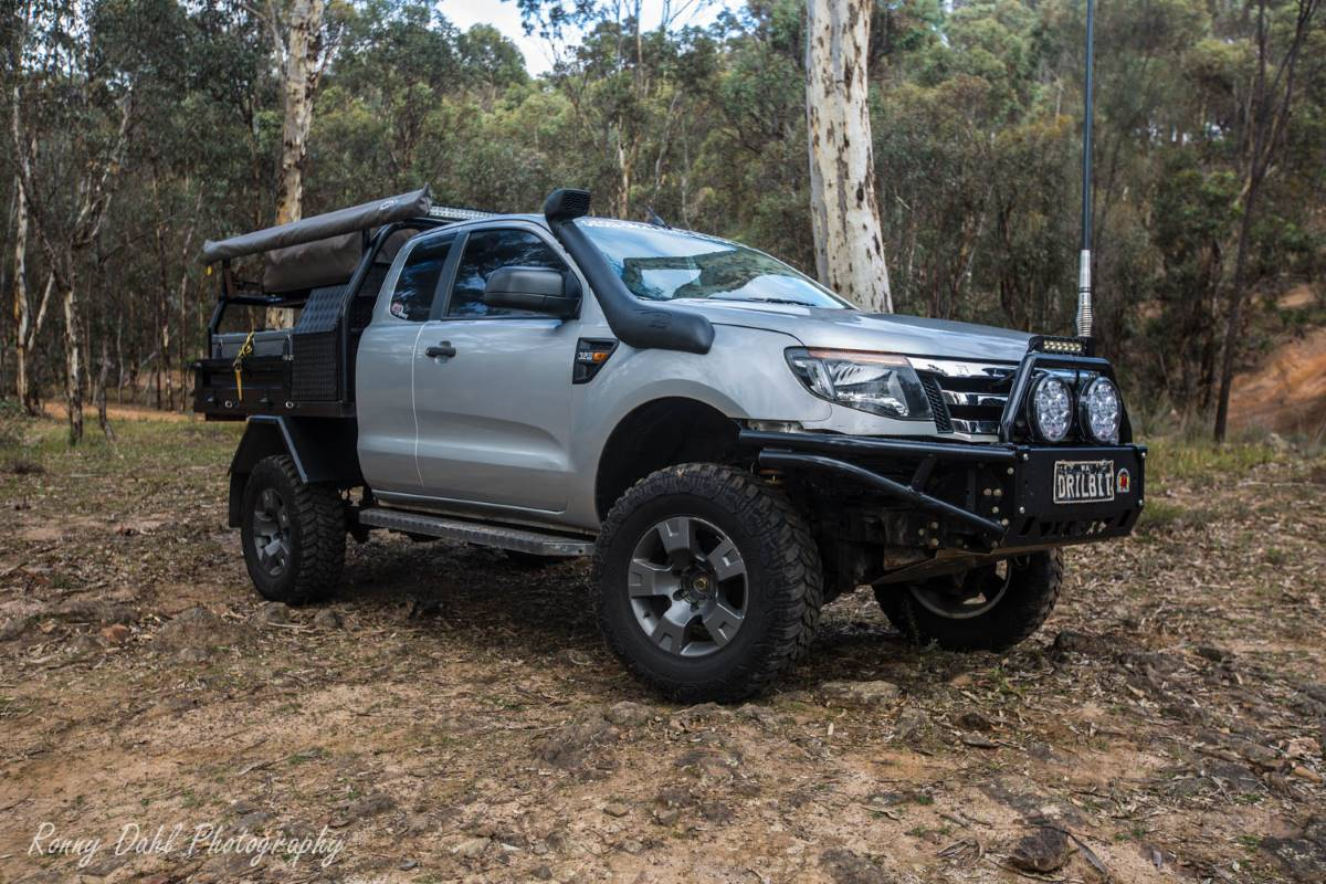 A Modified Ford Ranger PX on the track.