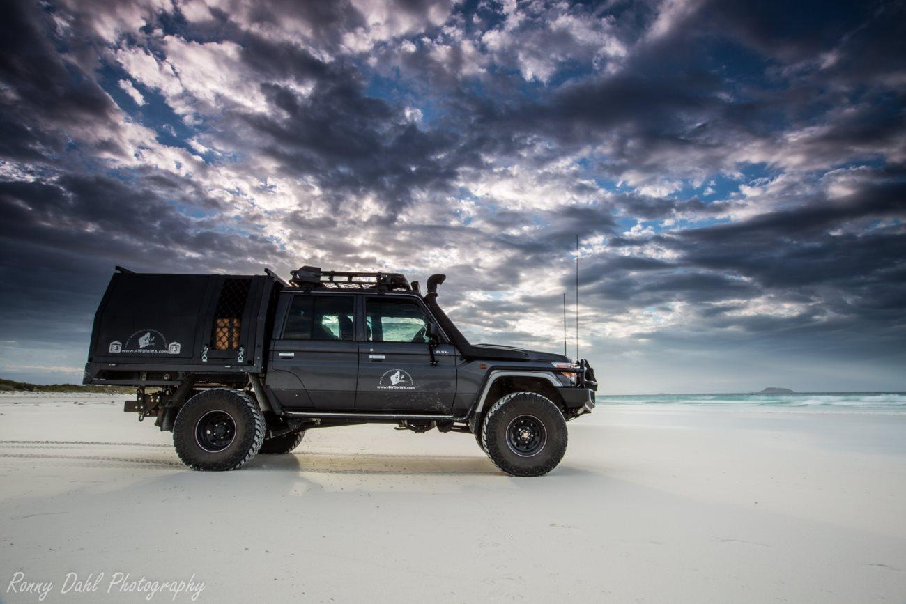 The Land Cruiser at Esperance, Western Australia.