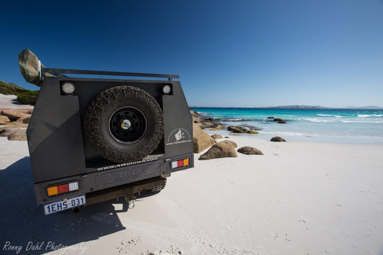 Toyota Land Cruiser at Esperance, Western Australia.