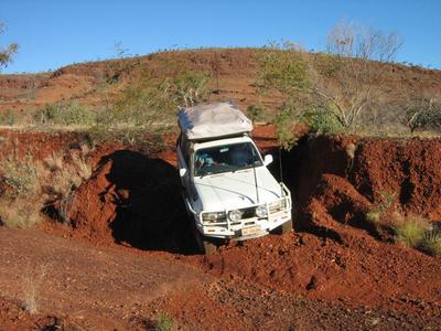 Off road in the Pilbara.