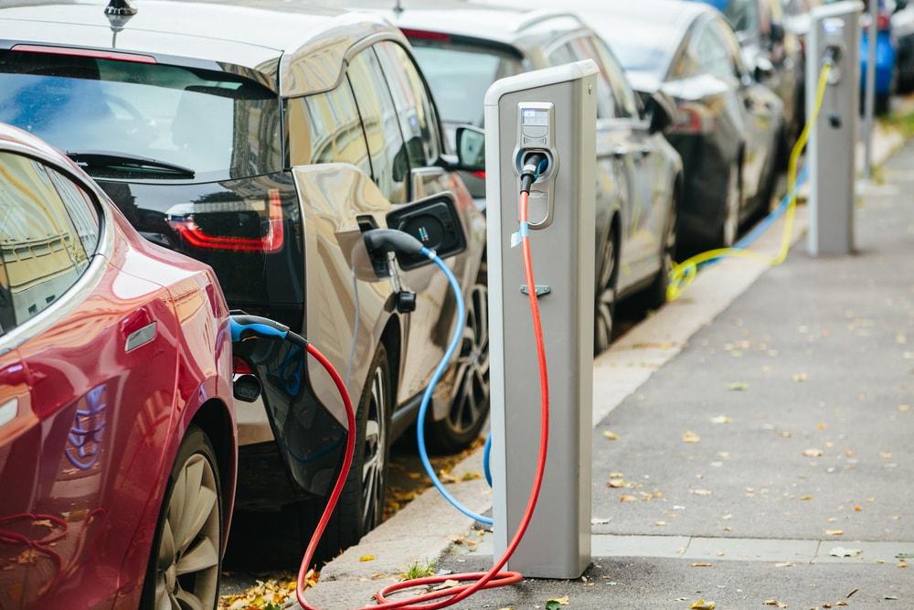 Electric cars recharging.