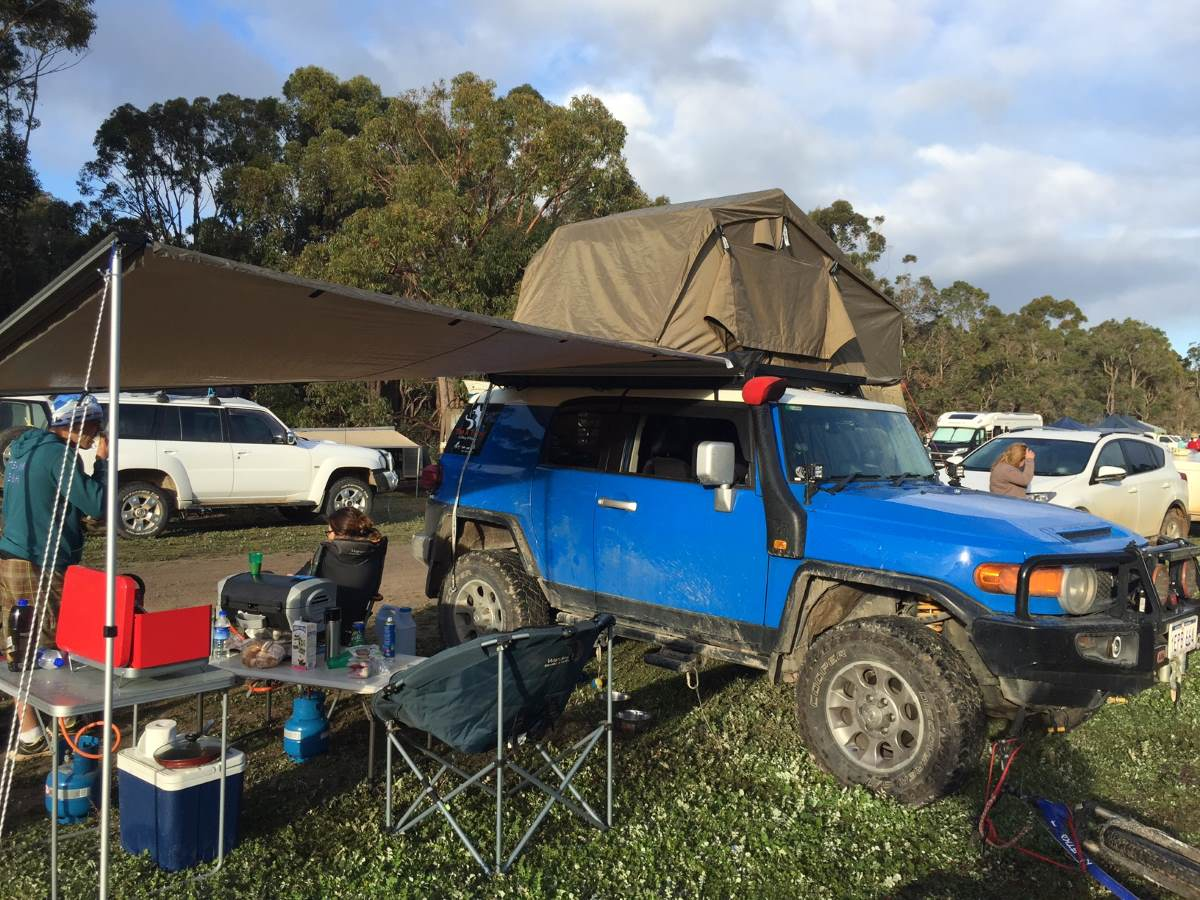 Camping with the FJ Cruiser.
