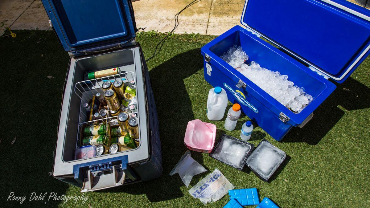 12v car/camping fridge & a icebox / Esky.