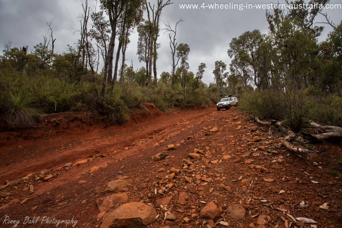Toyota Hilux Descending A Steep Hill.