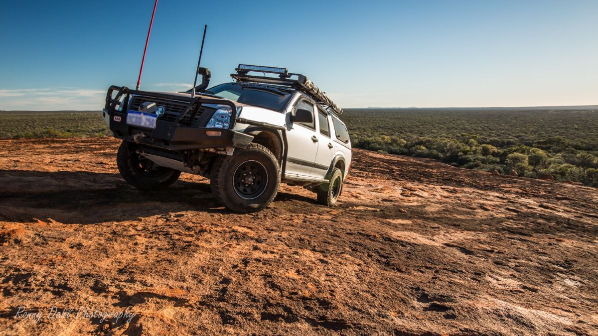 The Holden Rodeo in the Western Australian outback.