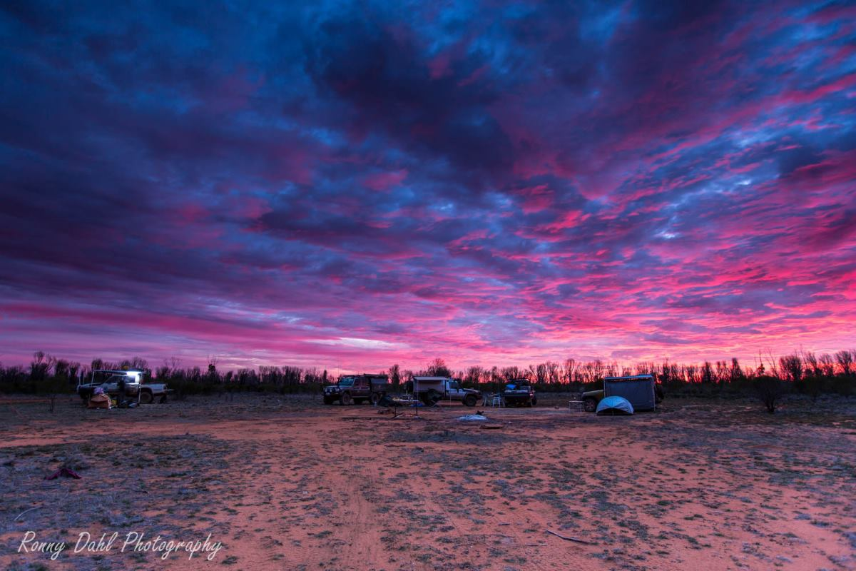 Sunrise at the Holland Track, Western Australia.