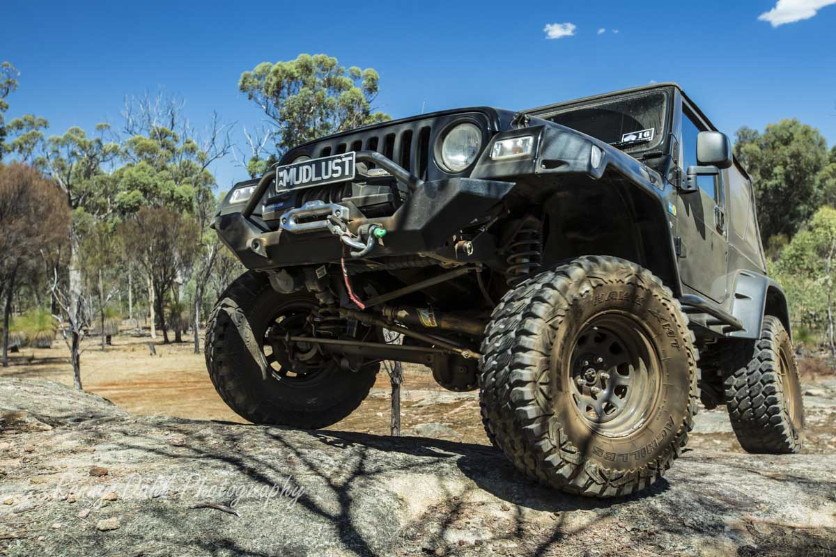 Jeep Wrangler Rock Climbing.