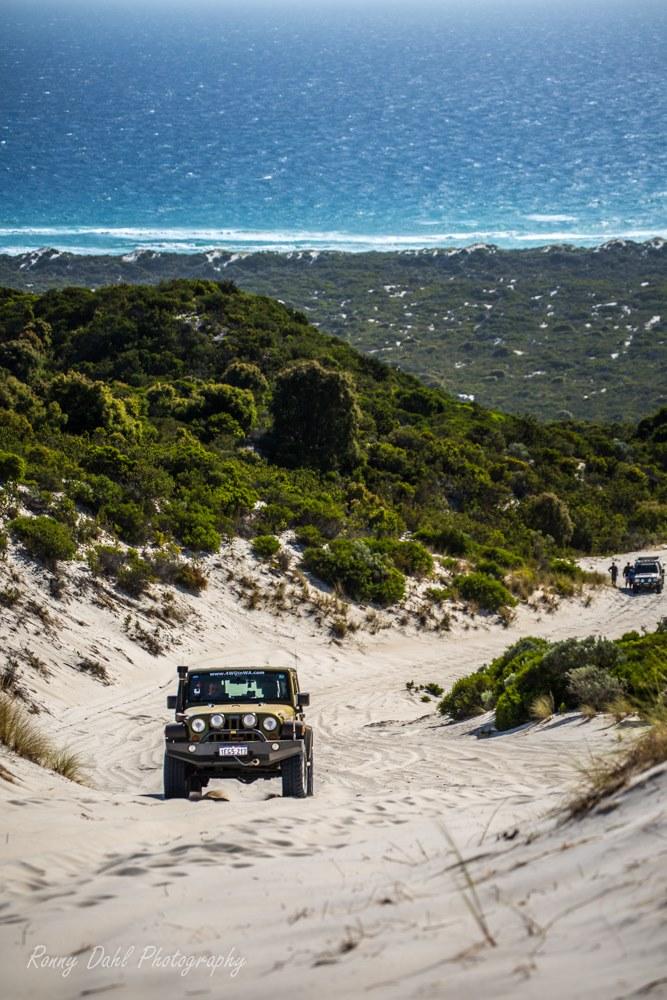 Jeep Wrangler on Callcuo Hill Western Australia.