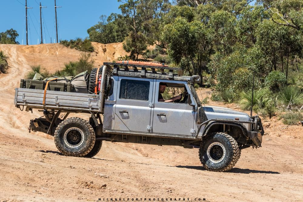 Land Rover Defender 130 on the Powerline.