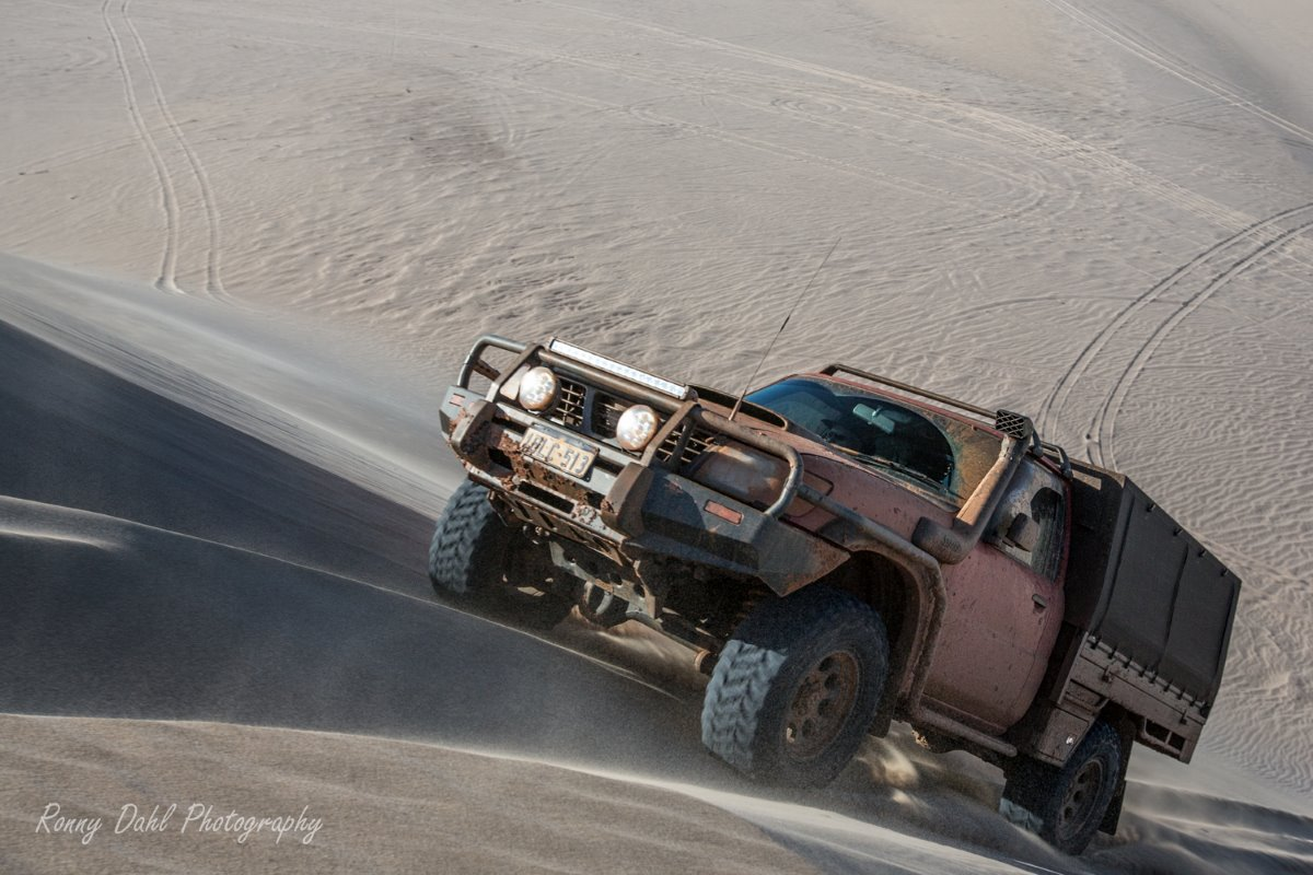 Nissan Patrol in the sand dunes.