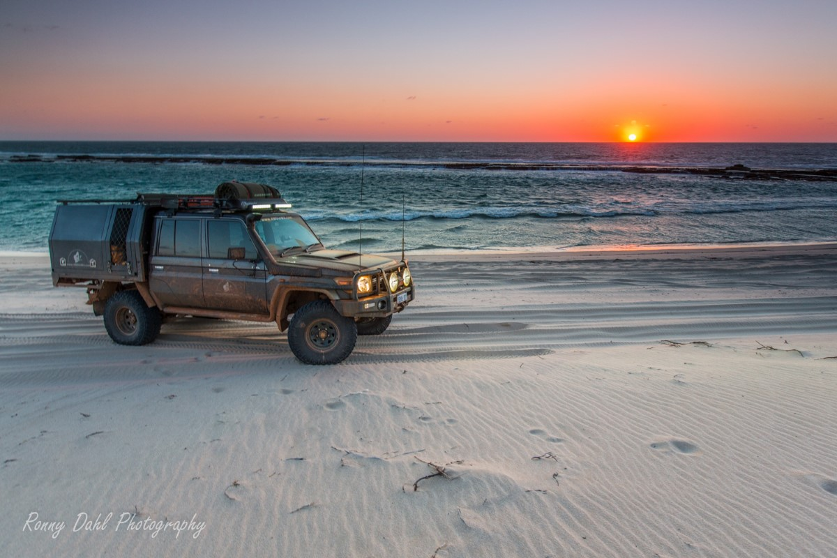 Sunset at Lucky Bay.