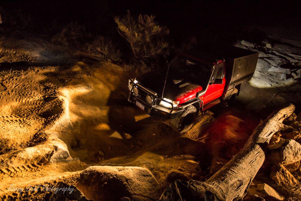 4 Wheeling in the dark.
