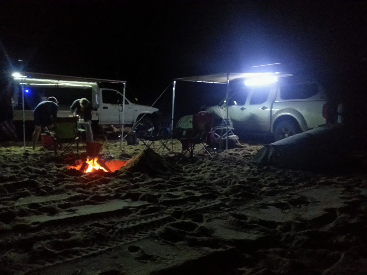 Night camp in the Navara.