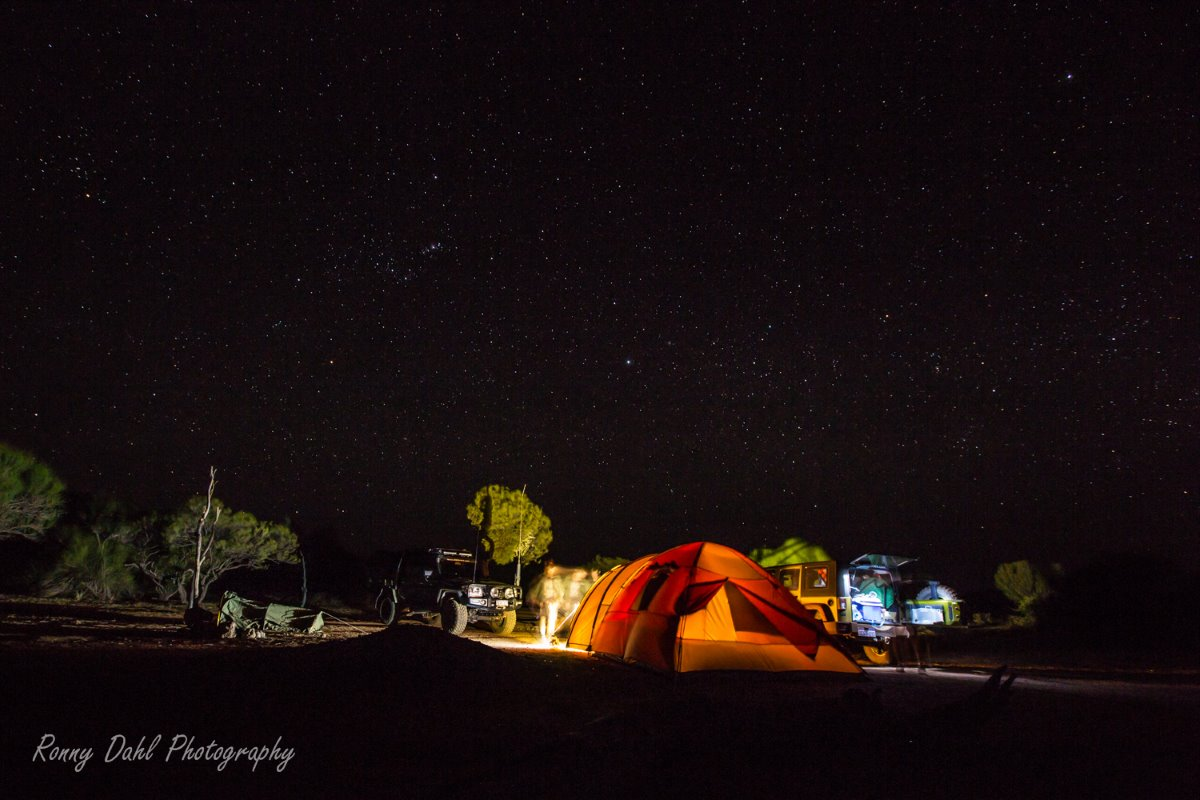 Outback camping. Western Australia.