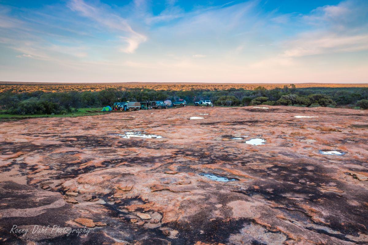 Outback Camping, sunrise. Western Australia.