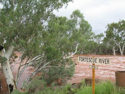 The Fortescue River running a banker.