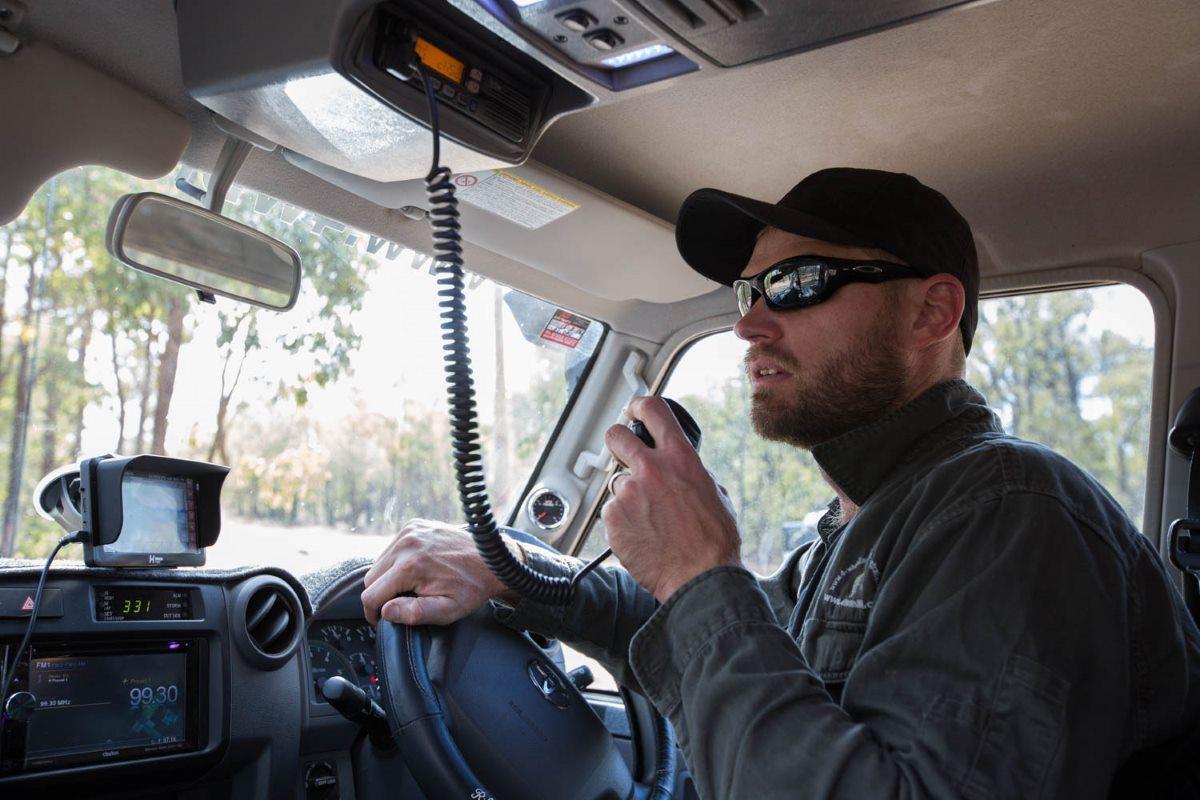 Communications on the UHF Radio.