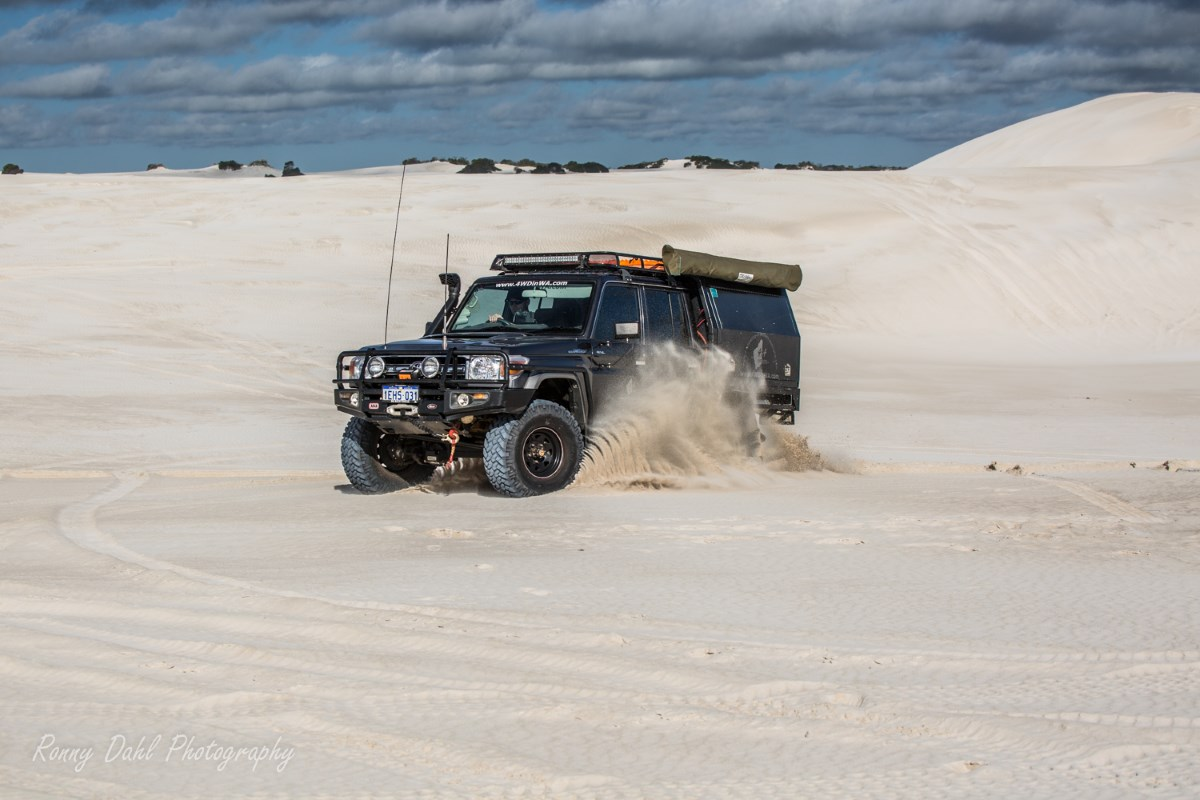 79 Series Land Cruiser at the sand dunes.
